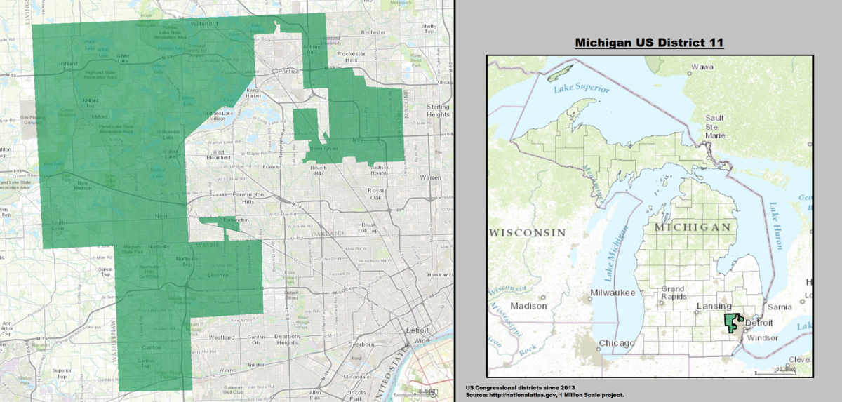 Michigans Th Congressional District Wikipedia - Political map 2018 us house