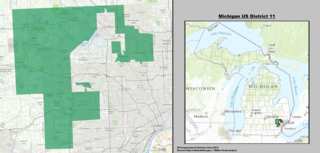 Michigans 11th congressional district U.S. House district for Michigan