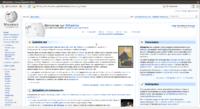 Midori affichant la page d'accueil de Wikipédia