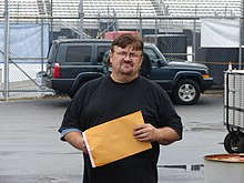 Mike Harmon In Nationwide Garage June 2008.JPG