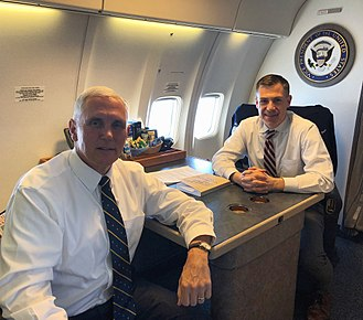 Jim Banks - Banks with Vice President Mike Pence in 2018