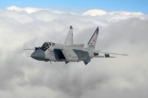 Mikoyan-Gurevich MiG-31BM in flight