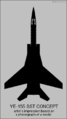 Mikoyan-Gurevich Ye-155 SST concept silhouette.png