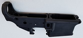 AR-15 style rifle - A stripped lower receiver, one that is lacking the additional parts included in a completed lower receiver, is the only part of an AR-15 style rifle that needs to be transferred through a federally licensed firearms dealer under United States federal law.