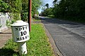 Milepost on the old A52 - geograph.org.uk - 1295701.jpg