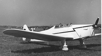 Miles Magister - Hawk Trainer Coupe G-AJRT at Leeds (Yeadon) Airport in May 1955