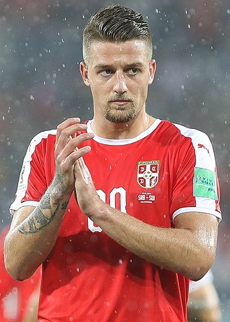Sergej Milinković-Savić - Milinković-Savić with Serbia at the 2018 World Cup