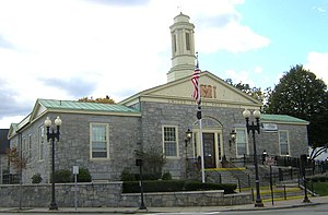 United States Post Office–Milton Main - Image: Milton MA Main Post Office 01