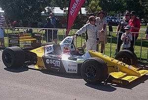 Pierluigi Martini - Martini and a Minardi M189 at the 2016 Adelaide Motorsport Festival