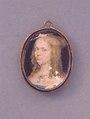 Miniatyr, porträtt,Ovalt miniatyrporträtt i gouache av Elsa Beata Brahe - Skoklosters slott - 91391.tif