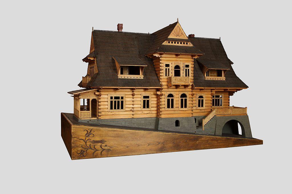 Modèle de la Villa pod Jedlami dessiné par Witkiewicz à Zakopane.