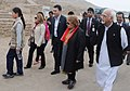 Mohd. Hamid Ansari arrives at the Museum of Pachacamac, in Lima, Peru on October 27, 2013. Smt. Salma Ansari and the Minister of State for Human Resource Development, Shri Jitin Prasada are also seen.jpg