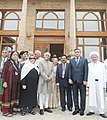 Mohd. Hamid Ansari visits Hazrat Imam Complex, at Tashkent, Uzbekistan on May 21, 2013. The Minister of State (Independent Charge) for Environment and Forests, Smt. Jayanthi Natarajan and Smt. Salma Ansari are also seen.jpg