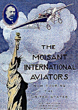 Barnstorming - An advertising poster for the early flying exhibition team, the Moisant International Aviators