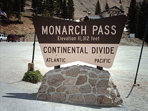 Monarch Pass - Sign at the summit