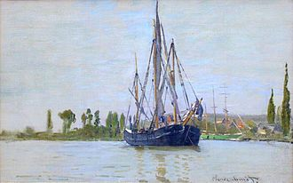 Chasse-marée - French chasse-maree at anchor, Claude Monet circa 1872