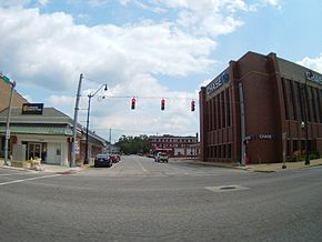 Downtown Crawfordsville, in Union Township