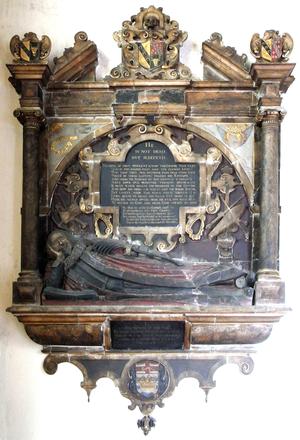 Richard Ferris - Mural monument to Ferris in St Peter's Church