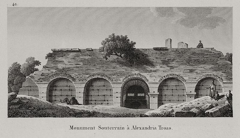 File:Monument Souterrain à Alexandria Troas - Choiseul-gouffier Gabriel Florent Auguste De - 1822.jpg