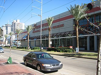 New Orleans Morial Convention Center - A portion of the Morial Convention Center Complex from Convention Center Boulevard.