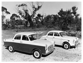 British Motor Corporation (Australia) - Morris Major Series II (foreground) and Series I
