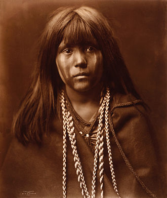 Mohave people - Mosa (Mojave girl), 1903, photograph by Edward Curtis