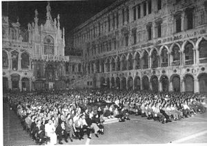 Venice Film Festival - The Doge's Palace in Piazza San Marco hosted the 1947 edition.