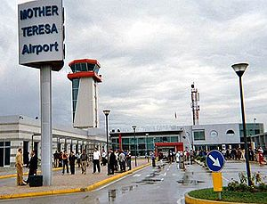 Albanian nationalism (Albania) - Tirana International Airport Mother Teresa named after Saint Mother Teresa