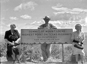 Davis Mountains - Summit of Mount Locke