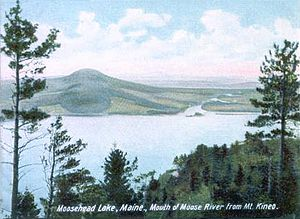 Moosehead Lake - Image: Mouth of Moose River from Mount Kineo