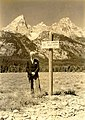 Mr. William O. Owen. (For whom Mount Owen in Grand Teton National Park, in the background, was named. A well known Wyoming (93fd0e2b62c64817899db8b973bebcbc).jpg