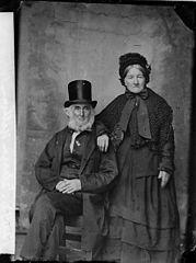 Mr and Mrs Eleazer Williams, Ffestiniog (1868)