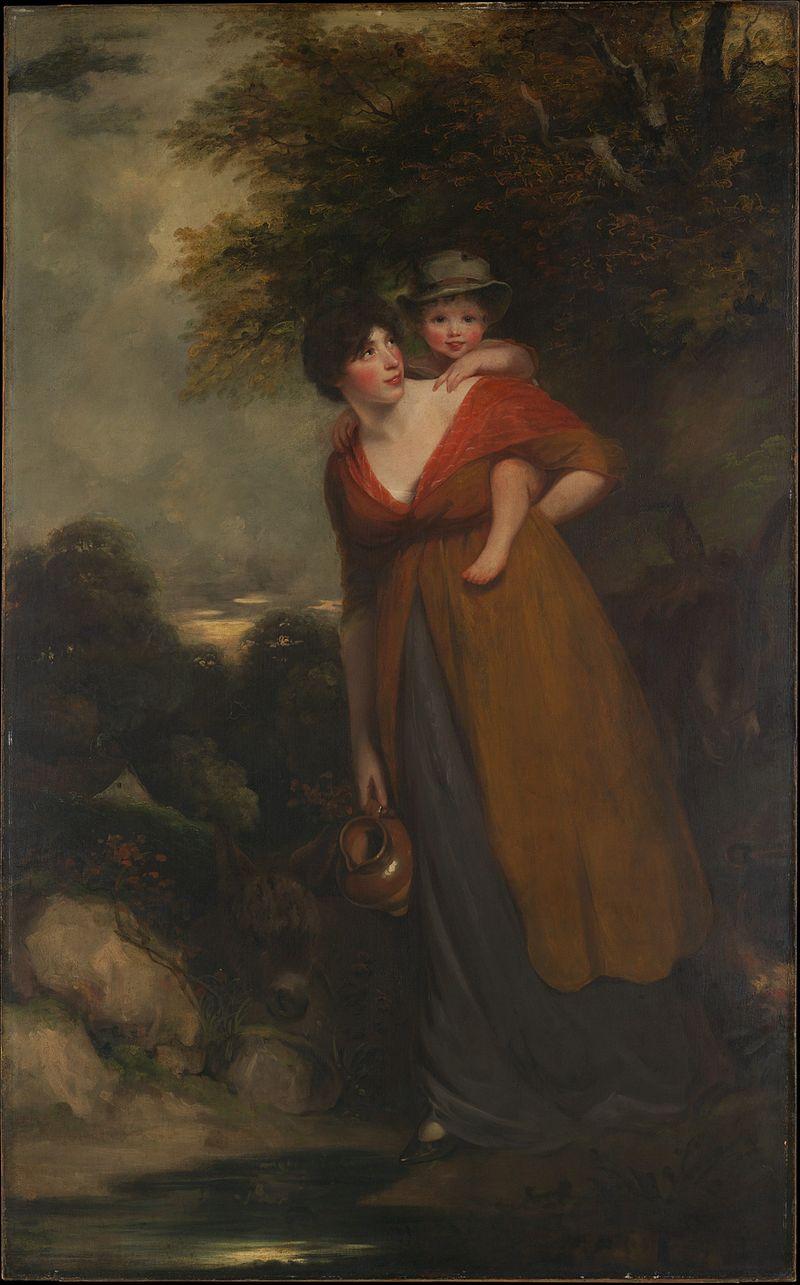 Миссис Ричард Бринсли Шеридан (Hester Jane Ogle, 1775-76-1817) и ее сын (Charles Brinsley Sheridan, 1796-1843) встретились с DP169223.JPG