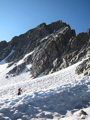 Sacagawea Glacier - Sacagawea Glacier below Mount Sacagawea at right