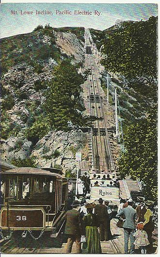 Mount Lowe Railway - Mt. Lowe Incline 1908