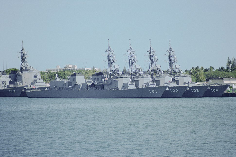 Murasame class destroyers in Pearl Harbor