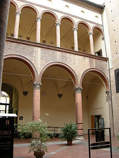palace in Bologna, Italy