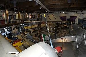 Museo dell'Aeronautica Gianni Caproni main hall from on board the S.79 (2).JPG