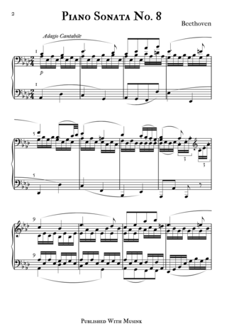 Musink - A published score created in Musink