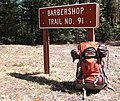 "My solo overnight sojourn into the woods. Why is tis trail named ""Barbershop""? There is a Barbershop canyon- did someone have a close shave there? Does it twist like a barber pole? Who knows? (2503991142).jpg"