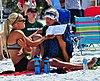 NCAA beach volleyball at Fiesta on Siesta, April 2016 (26265974722).jpg