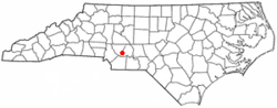 Location of Locust, North Carolina
