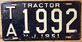 NEW JERSEY 1951 -TRACTOR LICENSE PLATE - Flickr - woody1778a.jpg