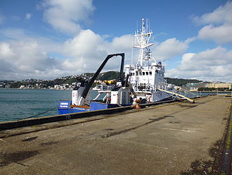 National Institute of Water and Atmospheric Research - Kaharoa moored in Wellington
