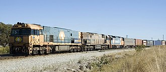 Rail transport in Australia - Pacific National intermodal service from Perth in Western Australia