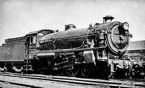 New South Wales C36 class locomotive - C36 Class Locomotive with original round top boiler