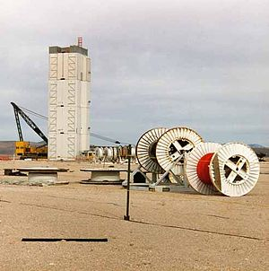 Area 2 (Nevada National Security Site) - Image: NTS Gabbs Tower