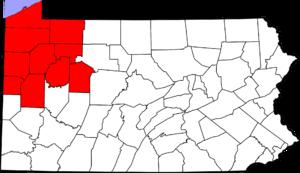 Northwestern Pennsylvania - Image: NW Penn