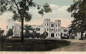 New York Military Academy - NYMA Academic Building (c.1916 postcard)