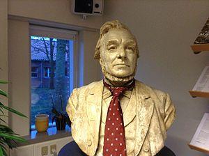Niels Fjord - N.J. Fjord's bust at Aarhus University, Foulum, Tjele.